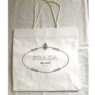 Prada medium large shopping bag 名牌購物紙袋