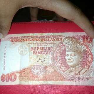 Wang Kertas Lama RM10