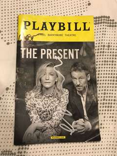The Present Playbill signed by Cate Blanchett
