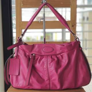 Authentic Lancel Large Hot Pink Hobo