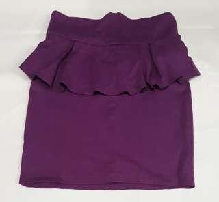 Cotton On Purple Peplum Skirt