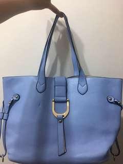 淺藍色 手袋 上膊 手挽 附內籠袋及長肩帶