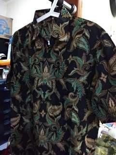 Reprice batik GW Collection cowok hitam