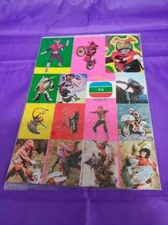 70年代幪面超人絕版貼紙