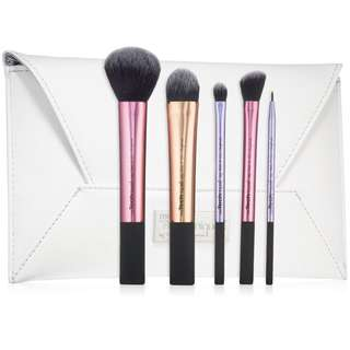 Real Techniques by Sam and Nic, Limited Edition, Deluxe Gift, 5 Brushes + Clutch