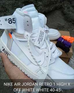 AIR JORDAN RETRO 1 HIGH X OFF WHITE