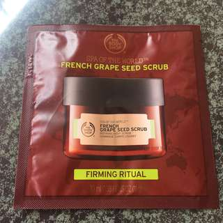 The body shop french grape seed scrub