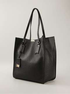 Burberry Woodbury Black Leather Tote