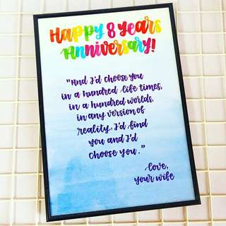 Customisable Day birthday Farewell Frame teacher bestie best friends Personalised colleagues colleague customised calligraphy Friend friend's friends present presents gift gifts anniversary monthsary Husband Wife cheap Girlfriend Boyfriend Personalised