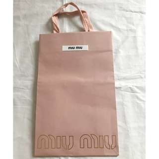 MIU MIU small size shopping bag 名牌購物紙袋