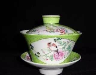 Famille-Rose Porcelain Cover Bowl Tea