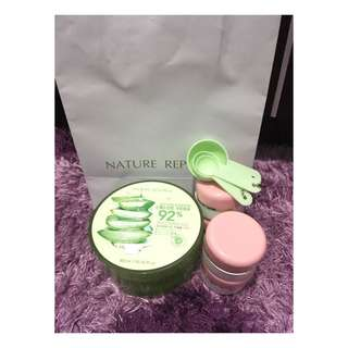 Share in jar nature republic aloe vera gel original 100% from store
