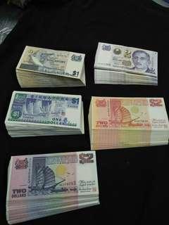 500pc sg old notes  B$1 100pc  S$1  100pc  S$2. 100pc.  S$2.  100pc.  P$2. 100pc offer $888