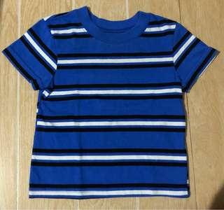 Blue white stripes shirt 12m