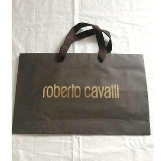Roberto Cavalli brown small size shopping bag 名牌購物紙袋