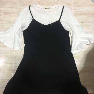 2 pieces ulzzang korean dress