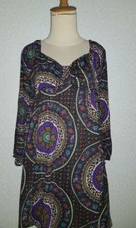 No Brand Dark Purple Short Dress
