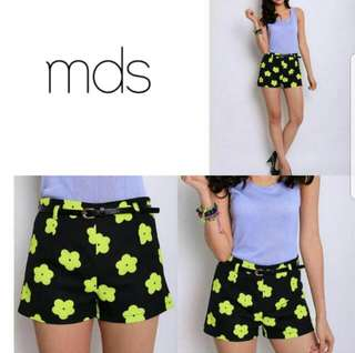 MDS. Daisy Mandy Shorts in Yellow (Size M)