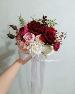 絲花花球 新娘花球 中式花球 花球訂造