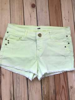Bershka neon green shorts