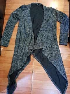 Long cardigan knit