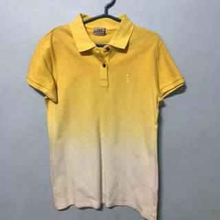 Herbench Yellow Ombre Polo Shirt