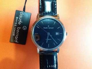Claude Bernard 瑞士製,機械自動男錶 ,(不需電池 )26石,有吊牌及原裝盒