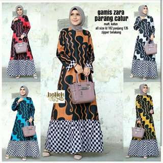 Gamis Batik Zara Parang Catur