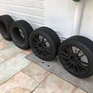 Rays 18' matt black rims BMW VW Volkswagan