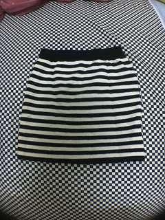 條紋針織短裙 包裙