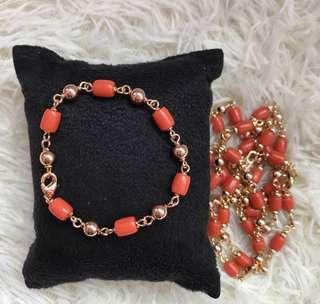 Orange Jade Bracelet for Baby