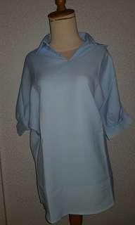 Baby Blue Short Sleeved Shirt
