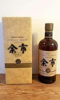 "余市20年日本威士忌 Nikka Whisky, Single Malt ""Yoichi"""