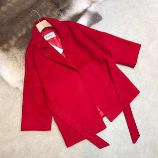 Max Mara Wool Coat in Red