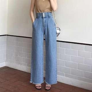 韓版高腰牛仔褲