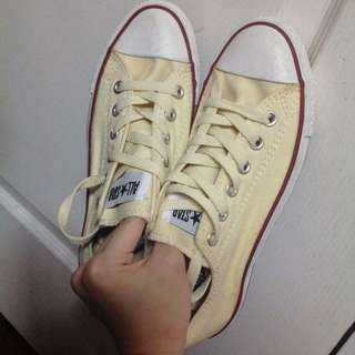 Authentic Converse All Star Chuck Taylor Cream Low Sneakers Shoes