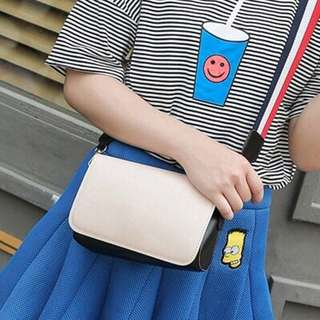 Colored Strap Plain Sling Bag