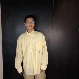 🚚 第二件六折*古著Tommy Hilfiger 黃白小格紋長袖襯衫