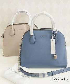 MK mercer lg dome satchel leather 26-30 X 24,5 X 13 cm