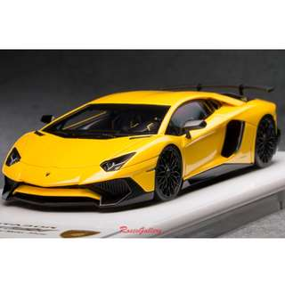 全新Make Up 1:43 Lamborghini Aventador LP750-4 SV 2015 Pearl Yellow EM358H