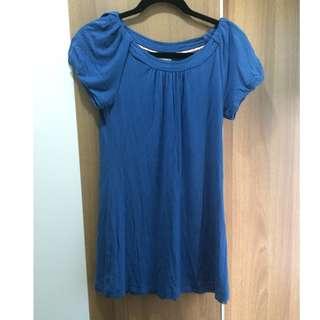 Burberry blue label 藍色長身衫 blue tunic