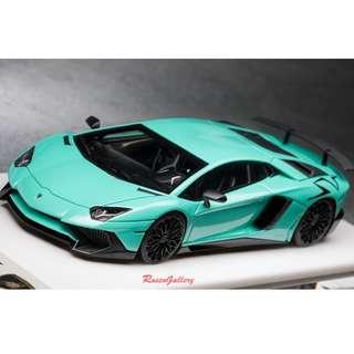 全新Make Up 1:43 Lamborghini Aventador LP750-4 SV 2015 Pearl Mint Green EM358I