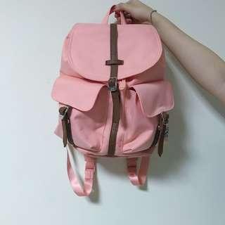 🚚 herschel 粉紅 水桶包 縮口包 帆布 後背包