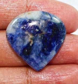 Sodalite Pear Shape cabochon gemstone 32.5X27X6 M.M, 32.7 carats
