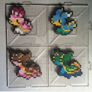 Hama beads design pokemon east and west version of shellos and gastrodon