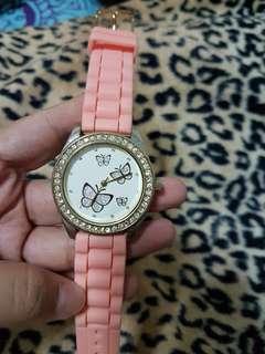 Cute Butterfly Rubber Strap Watch