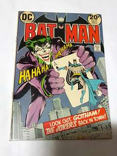 BATMAN 251 JOKER'S FIVE WAY REVENGE DC COMICS NEAL ADAMS