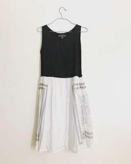 PLAINS & PRINTS black & white dress with print detail
