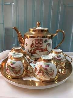 Vintage Porcelain Wedding Tea Set