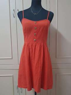 Petticoat Alley Red Orange Cut-out Dress